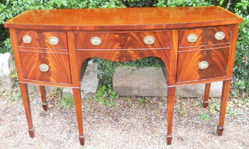 Georgian Style Bowfront Mahogany Sideboard by William Tillman